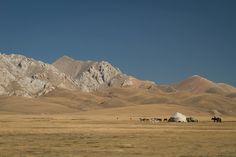 What a place!    #namdic life#SonKulLake#Yurt#Horse#bluesky#nature#mustseeplace#kyrgyzstan