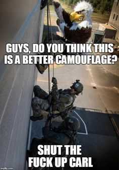 See more Shut the fuck up Carl images on Know Your Meme! Funny Army Memes, Army Jokes, Military Jokes, Stupid Funny Memes, Funny Laugh, Funny Relatable Memes, Hilarious, Funny Stuff, Usmc Humor