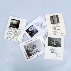 A Lot of 5  1950s Family Photo Christmas Cards  by leapinglemming