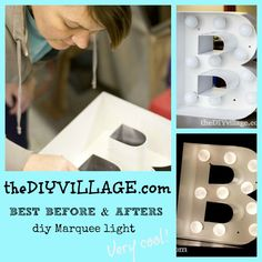 best #before and #afters. all #diy projects- this would be cool to put your last name up in lights, hollywood style
