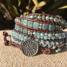5-wrap Bracelet - Fancy shades of Mint
