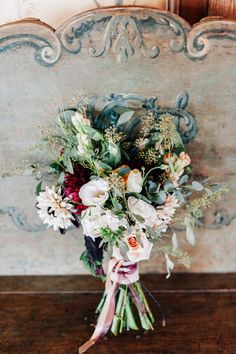 winter wedding bouquet, photo by Desiree Shuey Photography http://ruffledblog.com/california-elopement-inspired-by-provence #weddingbouquet #flowers #bouquets