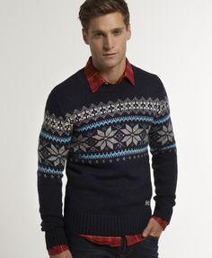 Superdry Whistler Fairisle Crew - Men's Sweaters