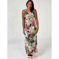 6dbd921bb72 Kim   Co Brazil Knit Twist Front Printed Maxi Dress Regular - QVC UK
