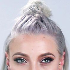 #Braid #French #Hair #Knot #Shorter #Top French Braid Into A Top Knot (For Shorter Hair)        ft. Gina Atkinson // @ginaatkinson ginastylist.com/ #Shorthairbraids