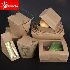 Custom Logo Printed Disposable Kraft Paper Lunch Food Box - China Disposable Food Box, Food Box | Made-in-China.com Mobile