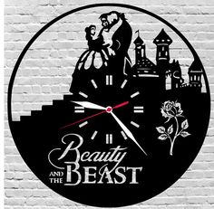 29$ wooden wall clock Disney/Beauty and the beast/Wall art