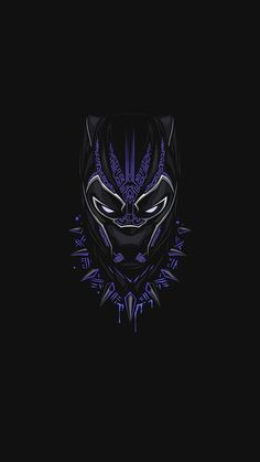 Schwarzer Panther Lila Minimal iPhone Hintergrundbild - iPhone Wallpapers - Best of Wallpapers for Andriod and ios