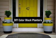 DIY Tiered Planters