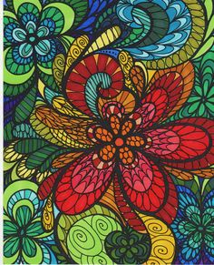 ColorIt Colorful Flowers Volume 1 Colorist Lorrie Palmer Adultcoloring Coloringforadults Adultcoloringpages