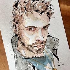 "4,184 Likes, 33 Comments - Dominic Beyeler (@beyelerdominic) on Instagram: ""@lannyzenga @mpmanagement #Portrait #Portraitsketch #Sketch #Draw #Drawing #Portraitdrawing…"""