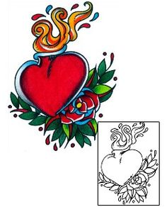 This Heart tattoo design from our For Women tattoo category was created by Captain Black. This tattoo includes a printable full size color reference, and perfect matching stencil. Tattoo Johnny is the professionals choice. Awesome Tattoos, Cool Tattoos, Traditional Tattoo Prints, Sacred Heart Tattoos, Heart Tattoo Designs, Heart Art, Body Art Tattoos, Tattoos For Women, Celtic