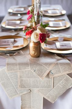 book page table runner // photo by Morgan Trinker