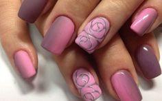 Simple Rose Nail Art Designs 2017