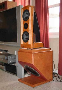 "Nao Minis - active and passive crossover design by John Kreskovsky, using Vifa XG-18 woofers, Seas 27TDFC tweeter and the Dayton DVC310-88 12"" DVC Series Subwoofer."