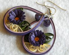 Custom color Small Paper Quilled Earrings от ParchmentPerfection