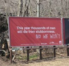 Funny pictures about Stubborn Men. Oh, and cool pics about Stubborn Men. Also, Stubborn Men photos. Doug Funnie, Funny Quotes, Funny Memes, Funniest Memes, Videos Funny, Dankest Memes, Funny Ads, Humour Quotes, Quotes Pics