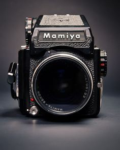 Mamiya 645 100s medium format film camera I really like the shape of this camera. I really like the lens of this camera as well. The shape is very unique, I have never seen a camera like this but I would love to own one.
