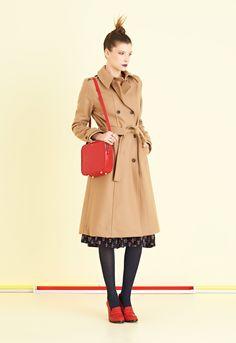 Un must, trench in multan di lana dalla vestibilità classica con cintura in vita   #ottodAme #FW15 #trench #coat