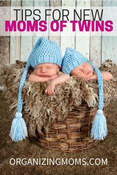Tips and tricks for being a happy mom to twins. Great tips for new twin moms.