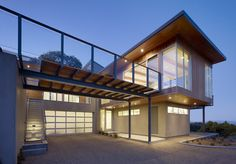 This house really is PERFECTION! I love how the downstairs is all business...and the upstairs is where you live! I love everything about this house! Tiburon Bay House - San Francisco, California - Butler Armsden Architects