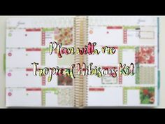 Plan with me: Tropical Hibiscus Kit (ECLP horizontal) - YouTube Hibiscus, Tropical, Map, How To Plan, Videos, Youtube, Location Map, Maps, Youtubers