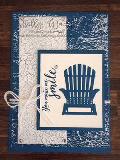 This weekend we had a team stamping day using goodies from the new annual catalogue. It was a wonderful day with great company, lovely... Birthday Cards For Men, Handmade Birthday Cards, Happy Birthday, Retirement Cards, Nautical Cards, Beach Cards, Paper Cards, Diy Cards, Stampin Up Catalog