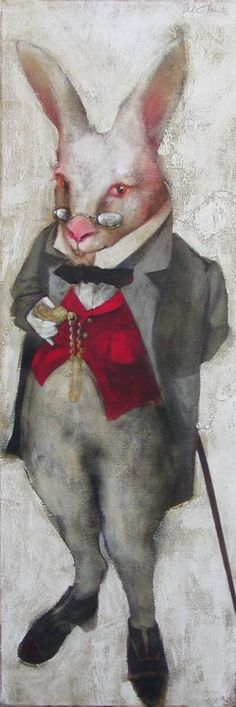 Oracle: From Mary Kline-Misol's Rabbithole series inspired by the writings of Lewis Carroll ... Love her paintings