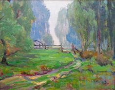 """This """"Misty Morning"""" is by Paul Weindorf, 16x20 Oil on Canvas Board"""