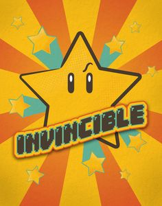 Some days, you just just feel invincible. -- Invincible. by Heather Doyle. [Nintendo Mario fanart]