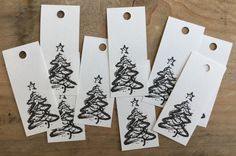 Christmas Gift Tags Paper Price Labels Christmas by BAMdesignshop