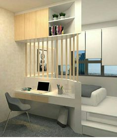 Awesome Small Apartment Bedroom Design Ideas To Try is part of Small bedroom designs - In their desire to save money, newlywed couples usually prefer to live first in small apartments especially if they still […] Small Apartment Bedrooms, Small Apartment Decorating, Small Room Bedroom, Small Apartments, Home Bedroom, Bedroom Decor, Teen Bedroom, Master Bedroom, Small Apartment Design