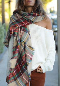 Scarves   Wraps, Wraps   Pashminas, RUIGO Unisex Blanket Oversized Tartan  Scarf Wrap Shawl Plaid Cozy Checked Pashmina A   Pashminas 3a772d873df