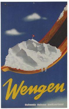vintage ski poster - Wengen