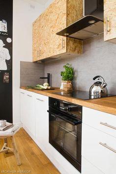 Kitchen design with OSB