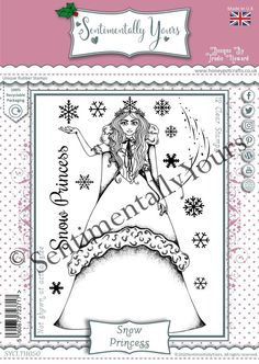 Trudie Howard Sentimentally Yours A6 Stamp Set - Snow Princess Stamp, Snow, Princess, Stamps, Human Eye