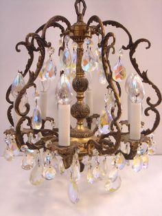1930s Petite Chandelier 6 Light by littlebrooklynstpete on Etsy, $300.00