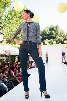 A women's Fall/Winter outfit from Brooks Brothers at the Santana Row 2012 Fall Fashion Show!