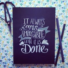 Handwritten chalkboard quote ' It always by lilywillowdesigns, $16.95