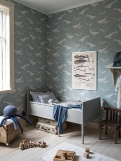 Baby Wallpaper, Swedish Wallpaper, Wallpaper Direct, Cool Wallpaper, Pattern Wallpaper, Create A Fairy, Boutique Deco, Cole And Son, Blue Wallpapers