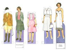 British Royal Family Paper Dolls | Royal Family | paperdolls | Pinterest