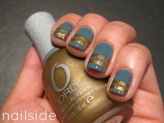 Nailside: Solid Gold Stripes