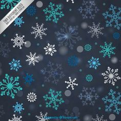 Colored snowflakes background Free Vector