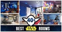Best Star Wars rooms for 2020 to check out! We collected the most inspiring and creative room decorations for Star Wars fans. Star Wars Room Decor, Star Wars Bedroom, Jungle Theme Nursery, Baby Boy Nursery Themes, Grey Nursery Boy, Star Nursery, Baby Shower Decorations For Boys, Room Decorations, Disney Decorations