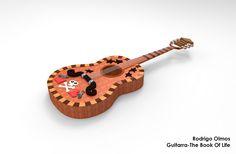 Modelado 3D Guitarra The Book Of Life