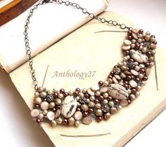 FREE shipping  Mocha necklace/ Only one available by anthology27, $112.00
