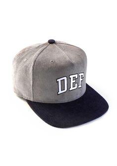 Def Stamina Starter Cap - Grey Corduroy (G) Corduroy, Cap, Grey, Fashion, Baseball Hat, Gray, Moda, Fashion Styles, Fashion Illustrations