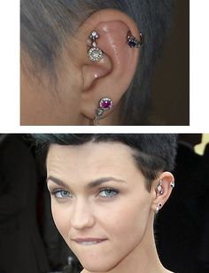 Ruby Rose is wearing Venus by Maria Tash. Find your look.