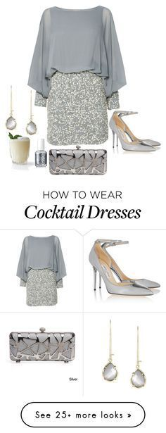 Lace & Beads, Jimmy Choo and Essie Classy Chic, Classy Dress, Classy Cocktail Dress, Cocktail Dresses, Silver Cocktail Dress, Cocktail Night, Cocktail Ideas, Mode Outfits, Fashion Outfits