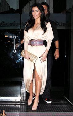 beige dress kim kardashian